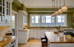 朴素自然:小别墅开放式厨房装修效果图