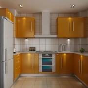 厨房橙色橱柜展示