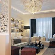 现代客厅窗帘设计图
