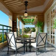 阳台餐厅桌椅欣赏