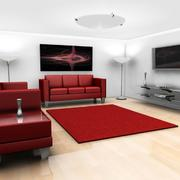 客厅红色沙发展示