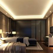豪华温馨卧室电视墙