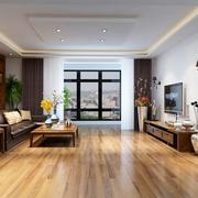 客厅生态木舒适地板展示