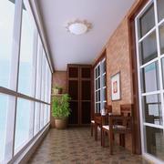 狭长的阳台装饰