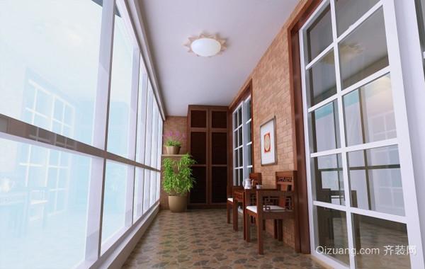 休闲娱乐复式楼混搭阳台设计装修效果图