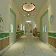 幼儿园简约走廊展示