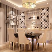 2016大户型现代简欧风格唯美的酒柜装修效果图
