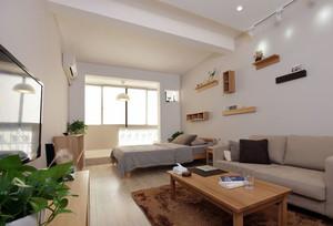 朴素2016单身公寓一居室装修效果图