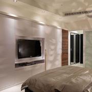 现代化卧室电视墙
