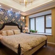 美式卧室床头壁纸欣赏