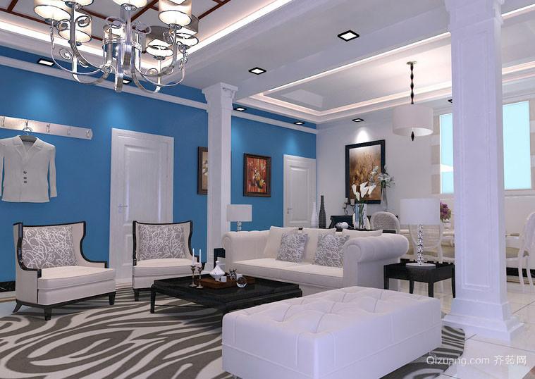 轻快133平米家居客厅室内设计效果图大全