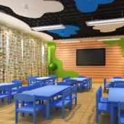 经典的现代都市幼儿园教室布置图片效果图