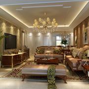 美式客厅温馨装饰