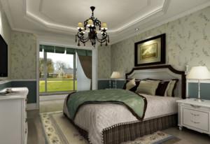 现代唯美单身公寓田园风格卧室装修效果图片欣赏