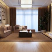 90平米欧式大户型客厅pvc地板装修效果图鉴赏