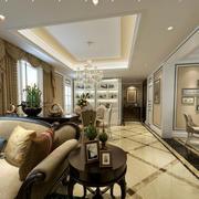 美式客厅瓷砖地板