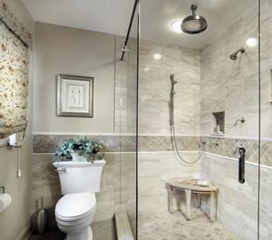 简约风格3平米卫生间玻璃隔断效果图