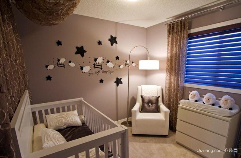 温馨朴素16平米婴儿房室内设计效果图