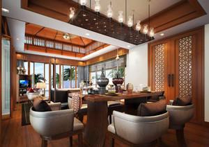 东南亚风格大型独栋别墅效果图