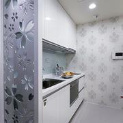 小型一字型厨房装修