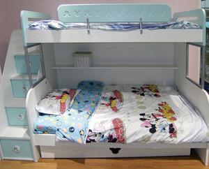 100平米地中海风格儿童房高低床装修效果图