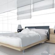 纯白色调卧室整体图