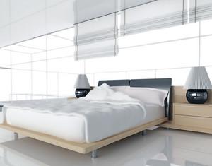 现代简约淡雅型卧室背景墙装修效果图鉴赏