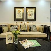 美式沙发装饰画图片