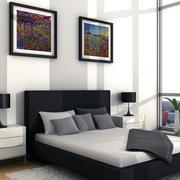现代床铺造型图