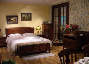 100平米两居室实木家具装修效果图片