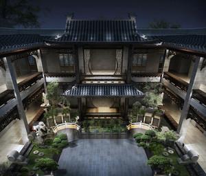 风格独特的现代北京四合院设计效果图鉴赏