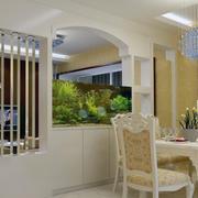 唯美的客厅隔断设计