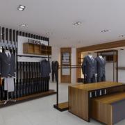 精彩亮丽的现代服装店背景墙装修效果图