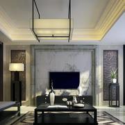 独特的客厅吊灯 图