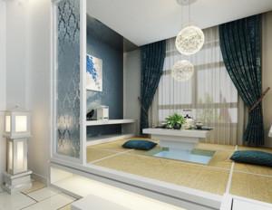 大户型现代日式风格室内榻榻米装修效果图