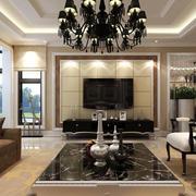 后现代风格大别墅客厅室内设计效果图