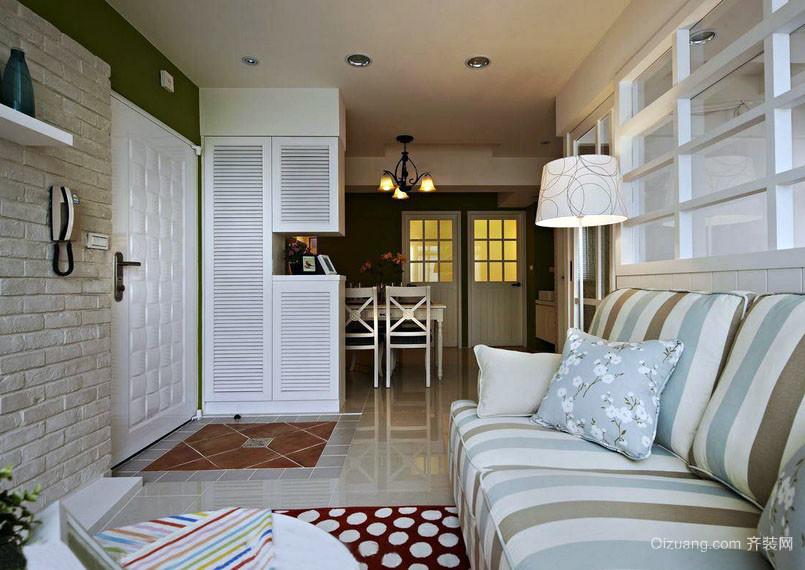 乡村质朴:60平单身公寓装修设计效果图
