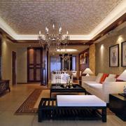 新中式风格沙发背景壁纸