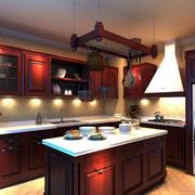 优雅炫丽:现代120平新房厨房橱柜效果图