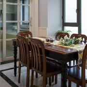 美式餐厅实木餐桌椅