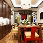 中式餐厅置物柜展示