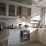 简欧风格144平米家居厨房橱柜效果图