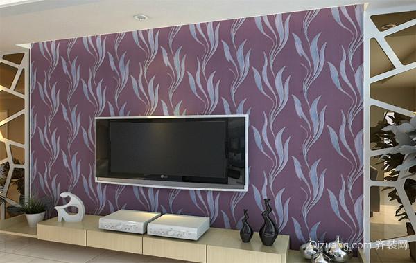 经典欧式大户型客厅背景墙玉兰墙纸装修效果图