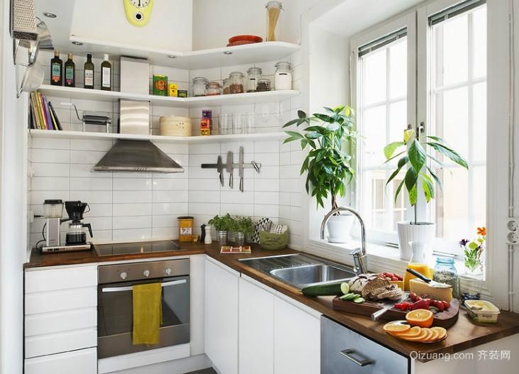 唯美设计经典欧式大户型厨房置物架装修效果图