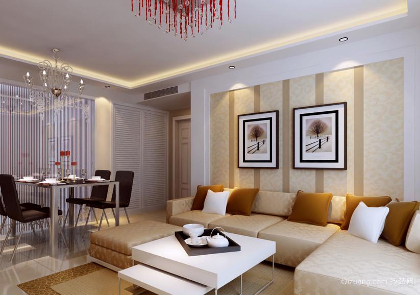 2016经典实惠的欧式室内沙发背景墙效果图