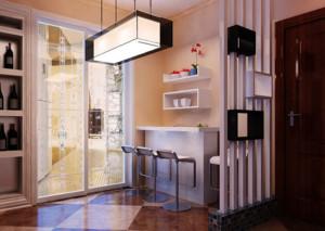 70平米欧式小户型家装吧台装修效果图实例
