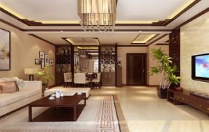 唯美中国风:精致大气的大户型中式客厅装修效果图