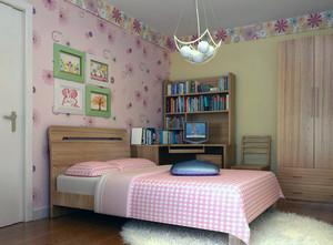 二居室温馨家庭欧式小卧室装修设计效果图实例