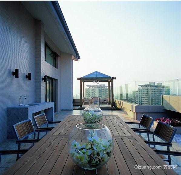 2016复式楼房屋室外宜家阳台装修设计图