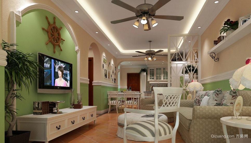 花样装饰:小客厅简约田园风格装修图片